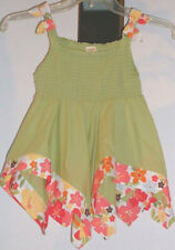 Gymboree Aloha Sunshine Green Handkerchief Strap Elastic Swing Top Floral Trim 7