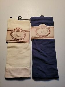 Gracile Hosery Microfiber Trouser Socks, 2 Pairs, Navy Blue And Ivory
