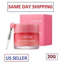 20g LANEIGE Lip Sleeping Mask Balm Berry Korea Cosmetic LipRepair Care withBrush