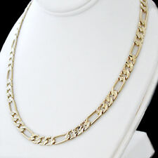 "6mm DIAMOND CUT FIGARO Link 24K 14K GOLD GL 24"" Necklace 