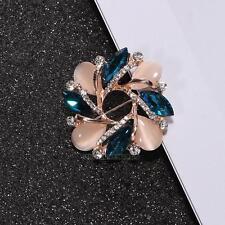 Women Ladies Trendy Diamond Crystal Bauhinia Shape Brooch Dress Decorative Pin