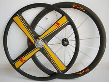 "Corima carbon HR 26"" Wheels 650c 4-spoke & 18h/8sp Shimano/Clincher pesadas"