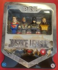 2017 Set of 4 PEZ Dispensers DC COMICS JUSTICE LEAGUE in Collector Tin