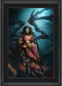 "Zergling Cuddle Time StarCraft Framed 20"" x 30"" Art Print Limited"