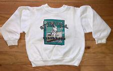 Vintage Baby Guess Crewneck Baseball White Sweatshirt Boys Kids 4Y-5Y