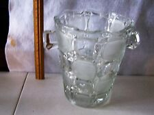 """LEAD CRYSTAL GLASS ICE BUCKET 9"""" TALL X 9"""" WIDE  PERFECT CONDITION  #437"""