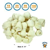 4-5 inch Rawhide Bones for dogs | Premium Rawhide Bone Chews by 123 Treats