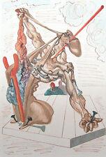Salvador Dali The Divine Comedy Inferno #29 Woodblock Fine Art Print, Make Offer