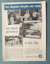 Original 1963 Blue Seal Photo Endorsed Ad by Wendell Wells of Canterbury NH