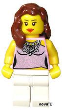 LEGO CITY VILLE FILLE PRINCESSE FÉMININ EN ROSE MINIFIGURE - NEUF