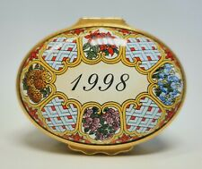 Halcyon Days English Enamels A Year To Remember 1998 Trinket Box
