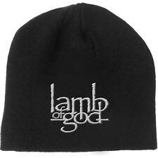 LAMB OF GOD Classic Band Logo BEANIE EMBROIDERED 3D LOGO MÜTZE
