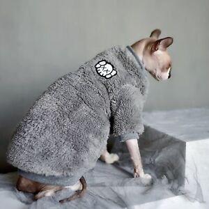 Sphynx Cat Clothes Fashion Soft Cat Clothes Comfort thick Hairless Cat Clothing
