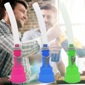 Beer Snorkel Funnel Drinking Cans Straw Games Party Entertainment m h