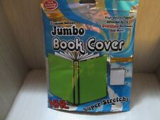 2 Pak Green Jumbo Book Cover Stretchy Fabric up to 10x15 Inch School Books New