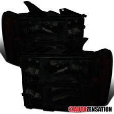 2007-2013 GMC Sierra 1500 2500 3500HD Smoke Headlights Left+Right Pair+Amber