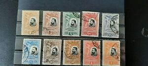 Romanian stamps 1906 25 years Kingdom Anniversary Full Set Used Nice Value/Offer