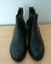 Ladies Black Leather Chelsea Boot Size 5 (38) TU
