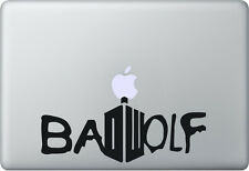 Apple MacBook Air Pro + Bad Wolf + Aufkleber Sticker Decal + Doctor Who Tardis