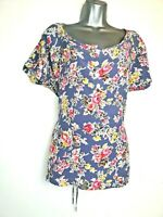 George 16 Blue Pink non stretch cotton feel scoop Neck cap sleeve Spring Blouse