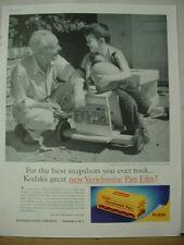 1957 Eastman Kodak Verichrome Film Old Guy Grandkid Vintage Print Ad 10220