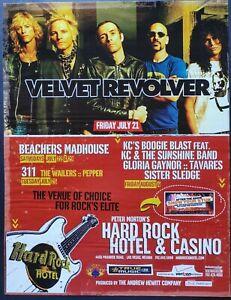 VELVET REVOLVER HARD ROCK HOTEL CASINO LAS VEGAS PROMO AD 2006