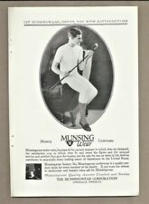 1927 Munsingwear Underwear Hosiery Man with Golf Club Photo Vintage Print Ad