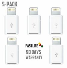 5-Pack Micro USB to Lightning Adapter for iPhone 5 SE 5S 5C 6 6s 7 7P 8 X