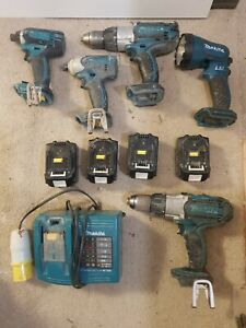 Makita 2 DRILL AND 3 IMPACT DRIVER with Torch 4x3Ah battery + Charger