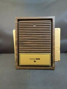 NEW Nutone IS-65 Radio Intercom Door Speaker - Walnut & Gold Trim No Screws