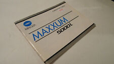 ORIGINAL MINOLTA MAXXUM 5000I 35MM USER INSTRUCTION MANUAL OPERATING GUIDE BOOK