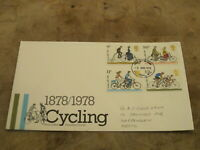 1978 GB First Day Cover / FDC - Cycling centenary