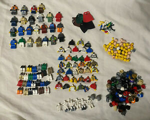 Lot of LEGO Spare Parts  - Minifigure Torsos, Legs, Heads, Hands, Capes & Hats