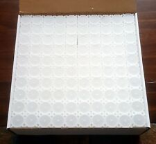 One Brand New Box of 100 Coinsafe Stackable Durable Hard Plastic Nickel Tubes!!
