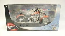 Harley Davidson Hotwheels Motorcycle Softtail Deuce 1:10 New