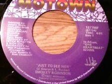 "SMOKEY ROBINSON & THE MIRACLES 45 RPM ""Just to See Her"" ""I'm Gonna Love You..VG+"
