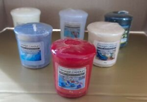 Bundle of 6 Yankee Candle Votives Rare Hard To Find Christmas Candy Cane Magic