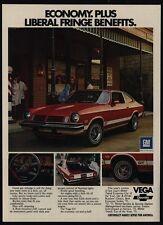 1974 CHEVROLET VEGA GT Car - Liberal Fringe Benefits - VINTAGE AD