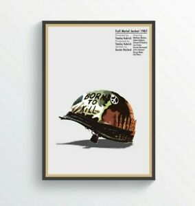 84. Full Metal Jacket Inspired Poster Art A5-A4-A3-A2-A1 or FRAMED OPTION