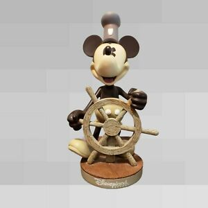 """RARE 10"""" Mickey Mouse Steamboat Willie Bobblehead Disney Theme Parks Resort"""