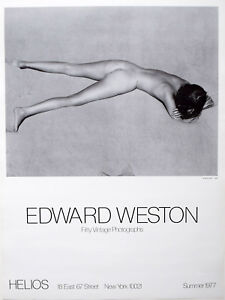 Edward Weston - Nude of the Sand,1936; Poster from Helios, New York, 1977
