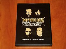 METALLICA DVD LIVE IN AMERICA SEATTLE 2000 & IRVINE 1999 USA TOUR CONCERT New