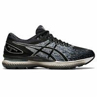 ASICS 1021A423 001 GEL NIMBUS 22 Black Black Men's Running Shoes