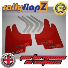 Rally Style Mudflaps HONDA CIVIC FN2 TYPE R Mud Flaps Red (Big Logo) 4mm PVC