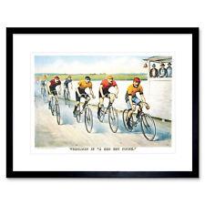 Sport Memorabilia Cycling Bicycle Racing Vintage Ad Art Framed Wall Art Print