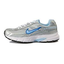 NIKE WOMEN INITIATOR RUNNING SHOES SILVER WHITE BLUE SIZE 8 NEW 394053-001