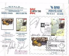 LIMITED EDITION SIGNED ISRAEL AND CANADA JOINT HOLOCAUST ISSUE FROM CAPEX 96