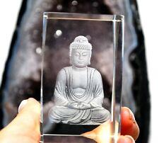 GLASS 3D SITTING BUDDHA PAPER WEIGHT DECORATIVE GIFT