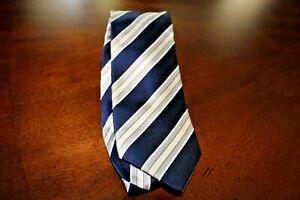 Vintage Donald Trump [President] Trump Blue/White 100% Silk Signature Tie