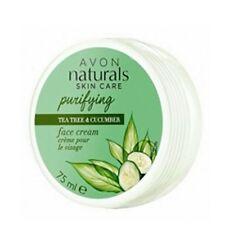 AVON naturals feuchtigkeitsspendende Gesichtscreme Teebaumöl & Gurke 75ml NEU